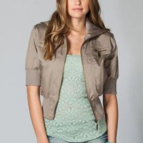 Full Tilt Cropped Jacket This cute jacket is in perfect condition and has pockets on either side. Full Tilt Jackets & Coats