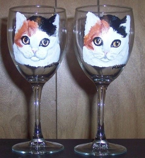 Hand Painted Wine glasses- good idea for gift! Description from pinterest.com. I searched for this on bing.com/images