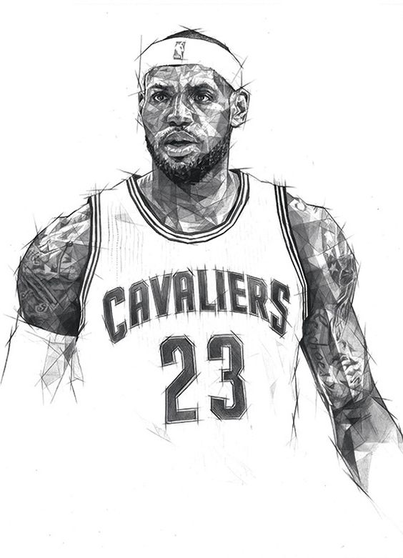 Cleveland cavaliers free colouring pages for Lebron james coloring pages