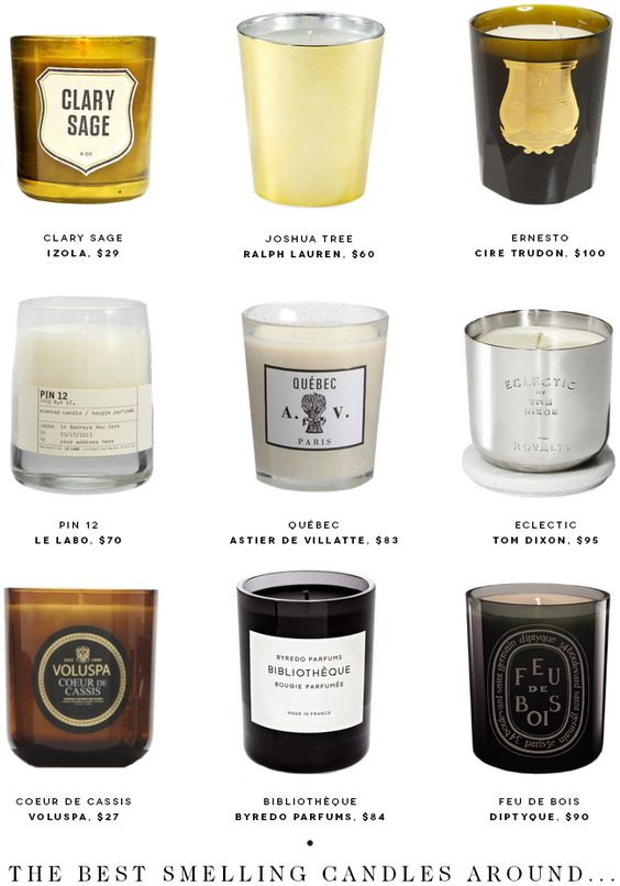 When I spoke about my scented candle collection, it dawned on me that I had never actually shared my favorite scents with you all, So here they are.