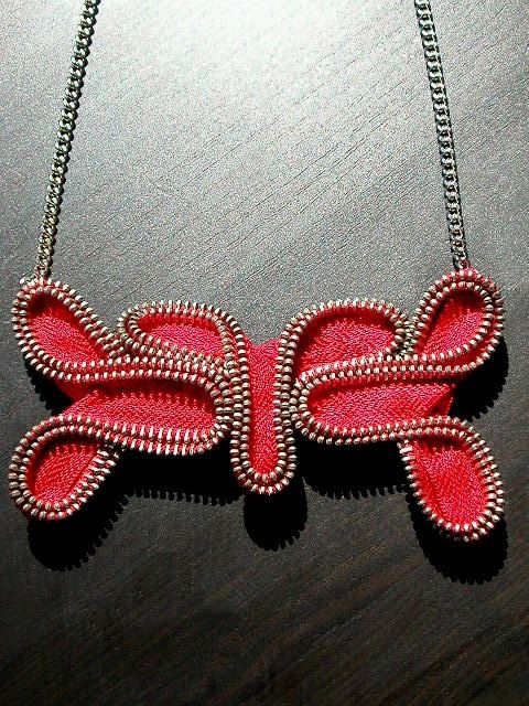 The Scarlet Zipper Necklace - love it