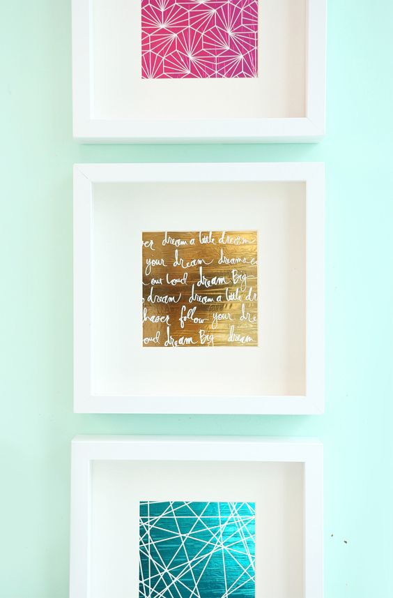 Foiled Negative Wall Prints | Damask Love