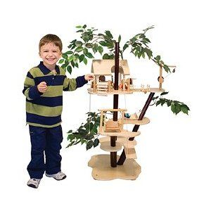 Melissa & Doug Classic Wooden Tree House Play Set