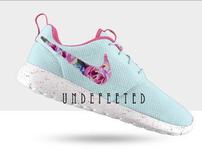 Nike Roshe Run Women Flower