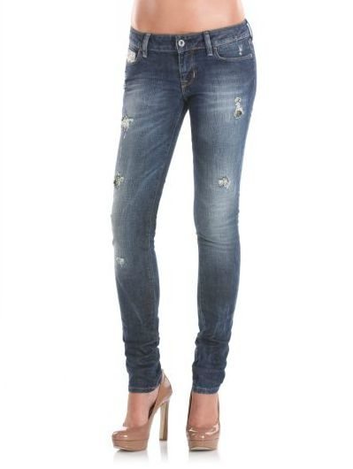 Starlet Dark Destroyed Silver Jeans Guess prix promo GUESS 165,00 ...