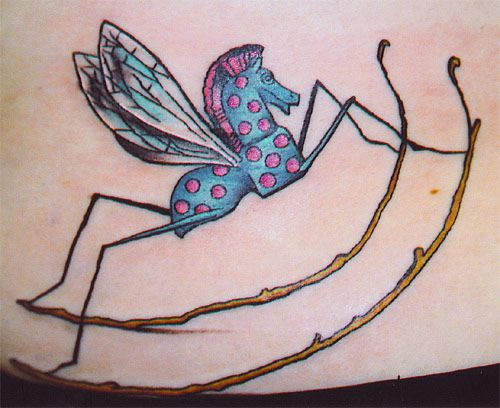 Rocking horse fly tattoo alice 39 s adventures in for Looking glass tattoos