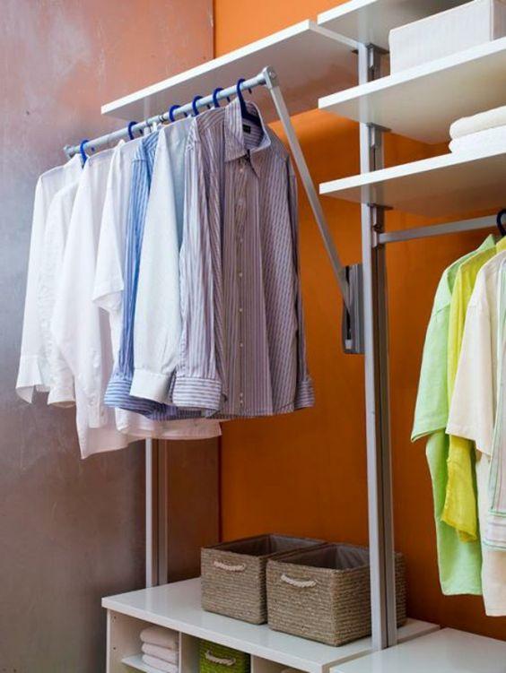 ankleidezimmer-einrichten-super-gestaltung-hemden-hängen | ideen, Badezimmer