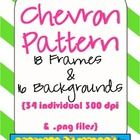 Frames and Backgrounds {Chevron Pattern}  $2.99: Chevron Classroom, Chevron Patterns, Technology Frames, School Pins, Backgrounds Chevron, Crafty Ness