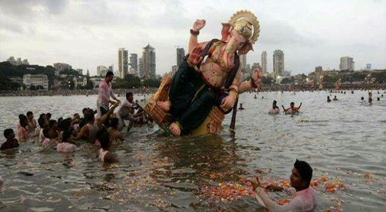 16 Drown During Ganesh Idols Immersion   Mumbai:The immersion of thousands of idols of the elephant-headed Lord Ganesha ended in most parts of Maharashtra on a tragic note with at least 16 visarjan-related deaths in the 24 hours to Friday morning officials said. Two people are missing  At least seven deaths took place in Nashik during immersion ceremonies in the district lashed by rains since Thursday.  An army soldier Sandeep Shirsat and another local S. Rameshwar drowned in a pond in…