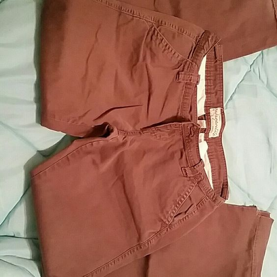 Brown Aeropostale pants Brown Aeropostale pants. They are very comfy. They have been worn, but in good shape. The bottom of the pants have been slit, 3rd picture shows. MAKE ME AN OFFER :) Aeropostale Pants