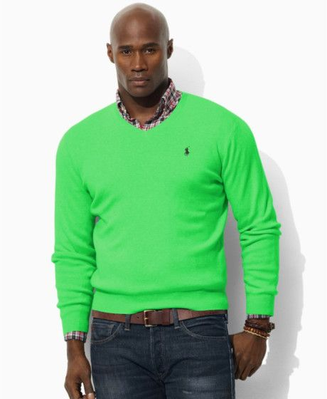 Big and Large Men\u0026#39;s Clothes | Ralph Lauren Big and Tall Pima Cotton V Neck Sweater