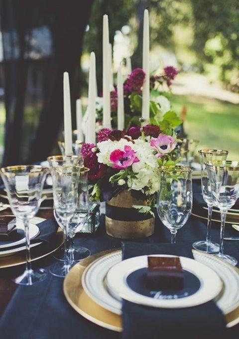 Midnight Blue Wedding Ideas And Navy Gold On Pinterest