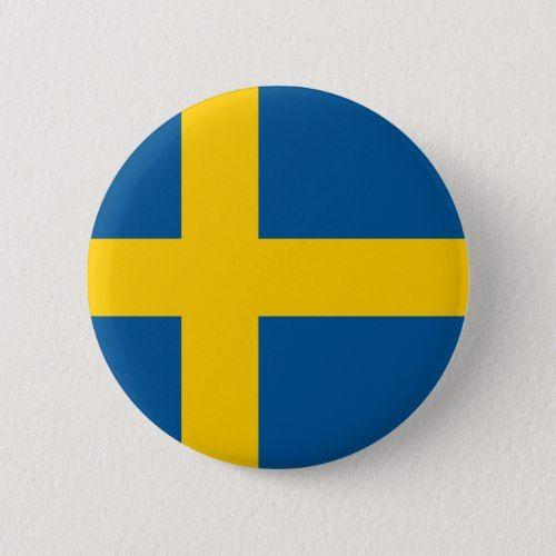 Sweden Flag Button Zazzle Com Sweden Flag Swedish Flag Flag