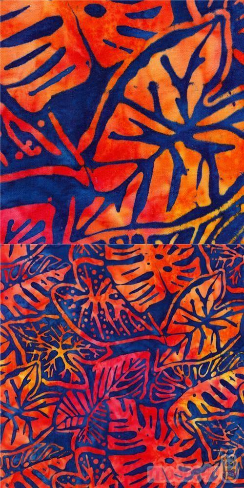 Fresh Water Designs Batik Cotton Fabric Green Circle Yellow Tie Dye Print BTY