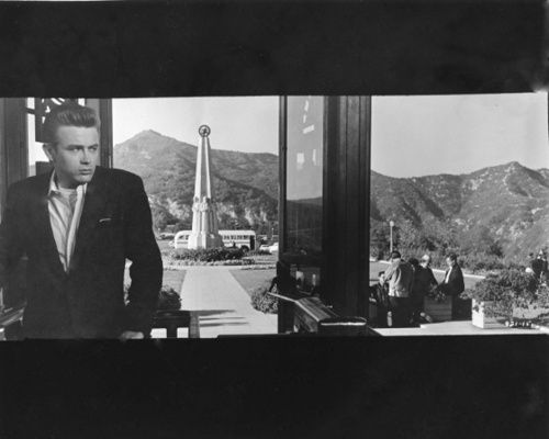 """James Dean filming """"Rebel Without a Cause"""" at the #GriffithObservatory"""
