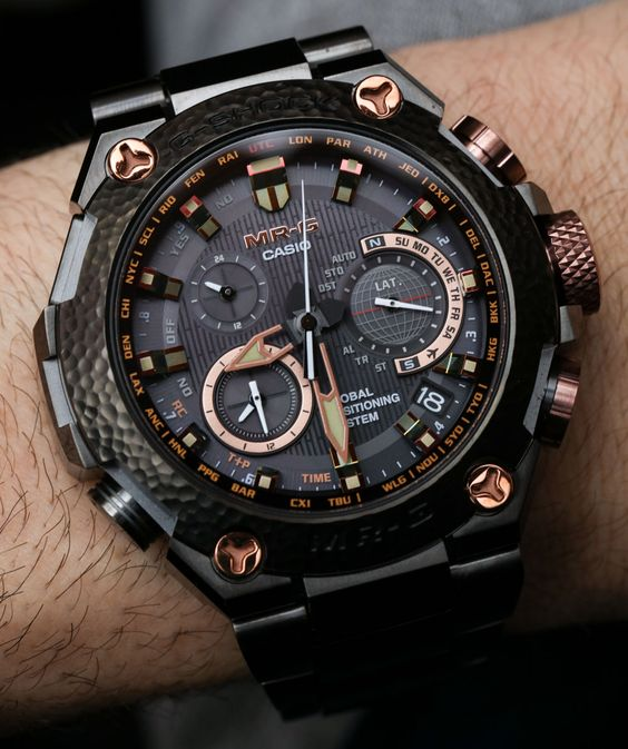 """Casio G-Shock MRGG1000HT Hammer Tone $6,200 Limited Edition Watch Hands-On - by Ariel Adams - on aBlogtoWatch.com """"A big part of me wants to splurge on elaborately decadent Japanese watches from time to time. Well, in fact, I do... High-end Japanese watch"""