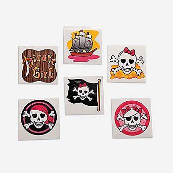 Oriental Trading - Girly Pirate Glitter Tattoos