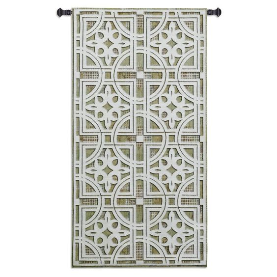 Fine Art Tapestries Fretwork Wall Tapestry - 3675-WH