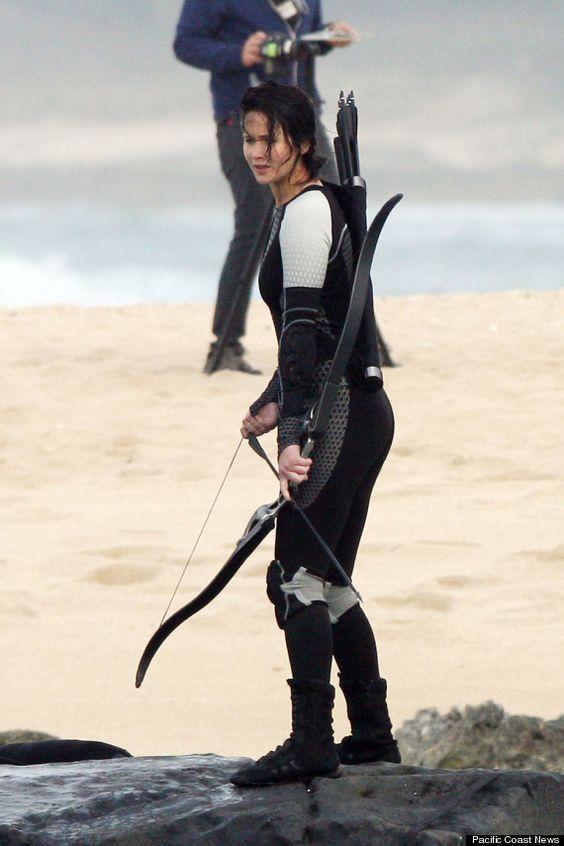 Jennifer Lawrence as Katniss in Catching Fire !