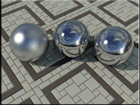 3Ds Max Tutorial | 3ds max material Chrome and steel #008