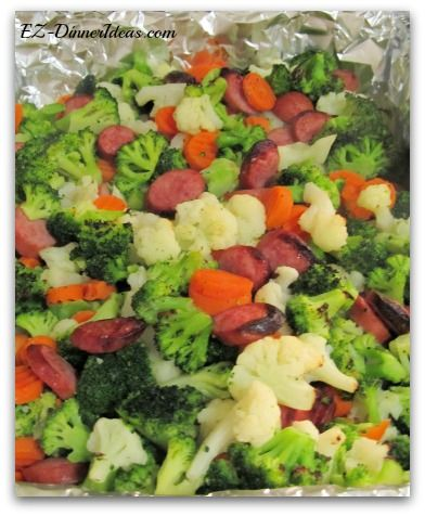 Blend vegetables kielbasa one of the easiest of the easy dinner ideas