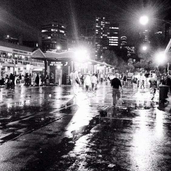 rainy night. melbourne