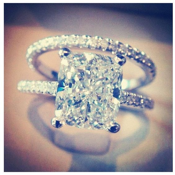 Any man that could potentially become my husband.. THIS IS THE RING I WANT :) Princess cut, diamond band, not too much, still flashy, PERFECT :)