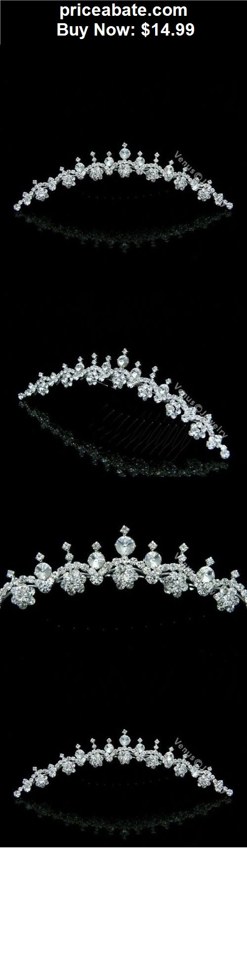 Bridal-Accessories: Bridal Rhinestone Crystal Prom Princess Wedding Tiara Comb 9592 - BUY IT NOW ONLY $14.99