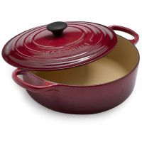 Le Creuset® Signature Burgundy Round Wide French Oven - From The Home Decor Discovery Community at www.DecoandBloom.com