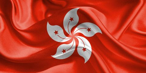 Hongkong Flag. Flag of Hong Kong. Waving Flags. 3D Realistic ...