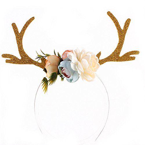 Reindeer Antlers Christmas Antler Ear Headband Diy Fawn Hair Hoop By Funoc Check This Awesome Pro Antler Headband Christmas Headband Diy Christmas Headband