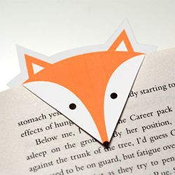 printable fox bookmarks print your own foxy bookmarks for free easy cheap and 2765