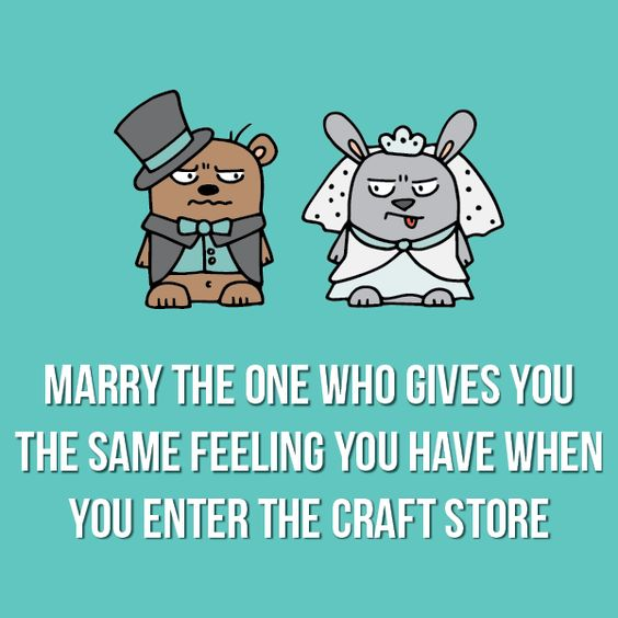 #crafthumor #craftquotes #tayloredexpressions #cardmaking #crafting #sewing #scrapbooking #marriage: