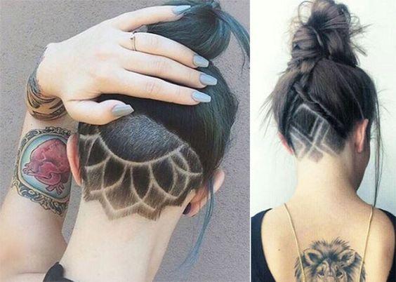 coiffure femme nuque rasée - Recherche Google