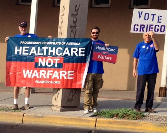 Vote Eric Griego Healthcare not Warfare by pdamericapics, via Flickr