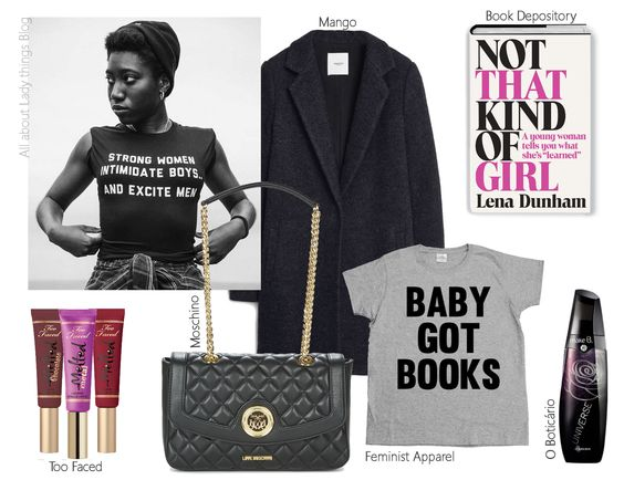 All About Lady Things: Strong Women ♡ Too Faced, Melted, Moschino bag, o boticário perfume, baby got books