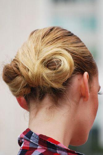 Hairdo from New York fashion week