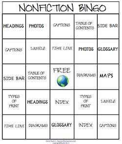 NonFiction Bingo   Nonfiction, Bingo and Plays