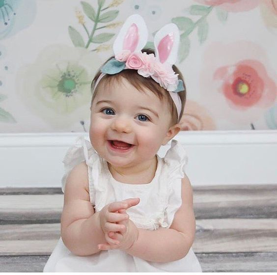 ****Current turnaround time is 1-2 weeks**** * Easter orders have been extended until March 25th Pink with ivory puffs not shown. Cute and playful bunny ears headband. Elastic headband is perfect for infants. Light pink felt will be inside the ears for the light pink combo -each item is handmade therefore it may differ very slightly from the photo, but will still be gorgeous! GET THE PEACH VERSION HERE: https://www.etsy.com/listing/513659535/bunny-ears-headband...