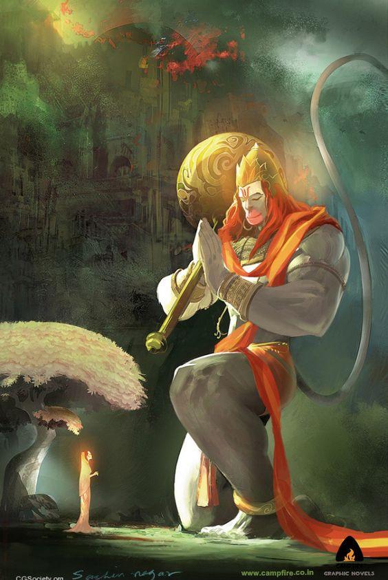 Sita and Hanuman