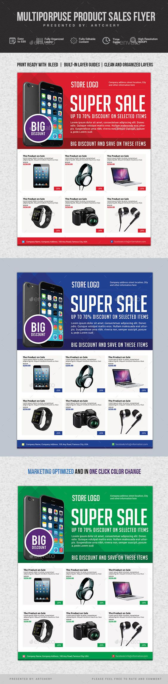 flyer template products and flyers multiporpuse product s flyer template design graphicriver net