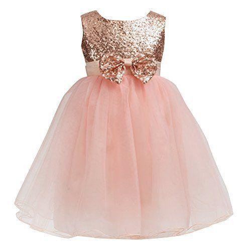 Kids Girl Baby Sequin Tulle Tutu Princess Dress Party Bridesmaid Wedding Dresses