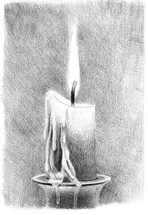 How to draw a candle + some tips on shading