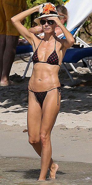 Dolce and Gabbana Polka-dot triangle bikini…