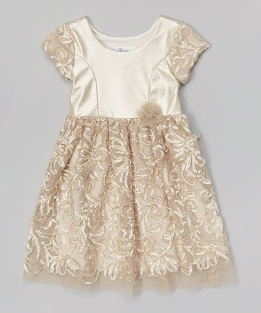 Look what I found on #zulily! Gold Soutache Cap-Sleeve - Toddler & Girls by Gerson & Gerson #zulilyfinds