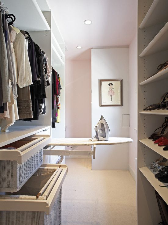 Closet Design--where to put the ironing board? Bingo!