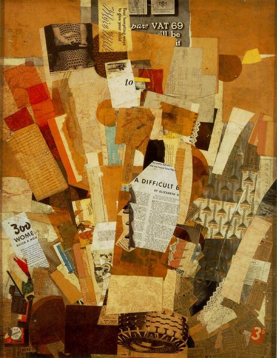 Kurt Scwitters - Difficult (1942-43) collage: