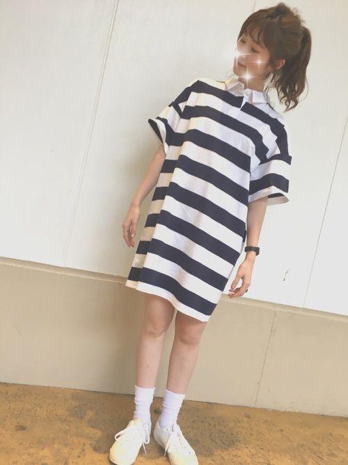 なおぴ guのワンピースを使ったコーディネート wear ファッション ワンピース ファッションコーディネート