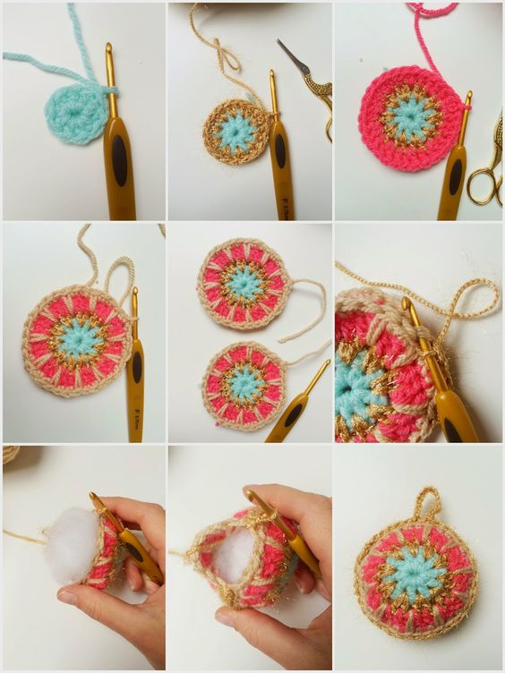 Easy Crochet Christmas Balls Diy