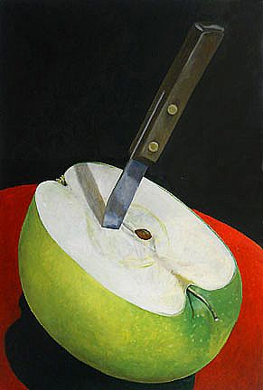 """Arctic Apple, Oil paint on canvas, 36"""" x 24"""" by Mark Granlund"""